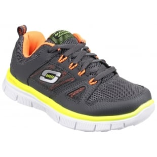 Skechers Flex Advantage Grey/Orange Boys