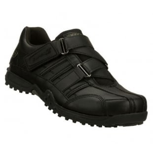 Skechers Sk91664 Velcro School Shoes Black