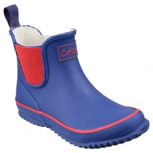 Cotswold Bushy Kids Wellingtons Blue Wellies