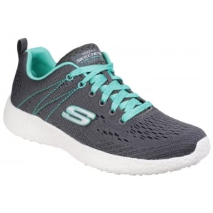 Skechers Burst - Equinox Charcoal/Aqua