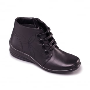 Padders Tanya 564 - E/Ee Fit Black Boots
