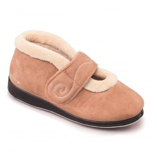 Padders Hush 409 - Ee Fit Camel Slippers
