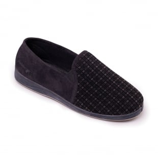 Padders Albert 408S*02 - G Fit Black Combination Slippers