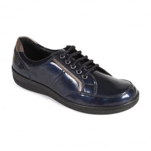 Padders Atom 240 - E Fit Navy Shoes