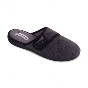 Padders Baxter 423 - G Fit Grey Slippers