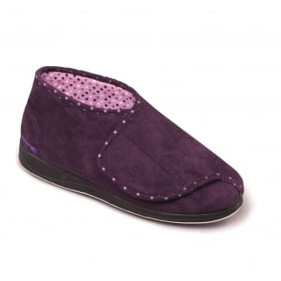 Padders Cherish 449 - Ee Fit Lilac Slippers