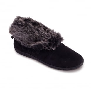 Padders Eskimo 436 Ee Fit Black Slippers
