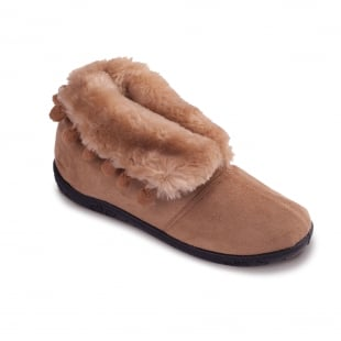 Padders Eskimo 436 Ee Fit Taupe/Camel Slippers