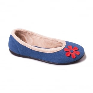 Padders Happy 464 Ee Fit Blue Slippers