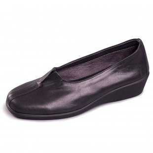 Aerosoles Four Some 1046 Black Leather Shoes