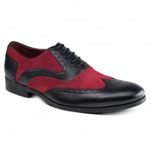 Azor Shoes Miller Zm3748  Black/Burgundy Shoes