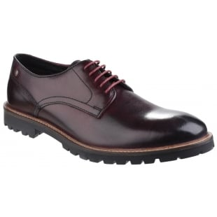 Base London Barrage Lace Up Derby Shoe Bordo Shoes