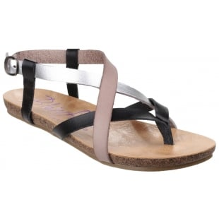 Blowfish Granola Black Multi Sandals