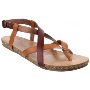 Blowfish Granola Sand Multi Leather Sandals