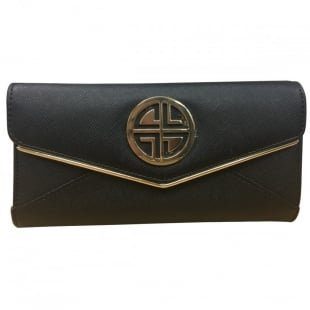 Carlton London Acanthus CLB0028 Black purse