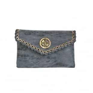 Carlton London Amaranth Clb0031 Grey Clutch Grey Bags