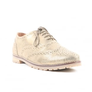 Carlton London Cad Gold Brogue Shoes