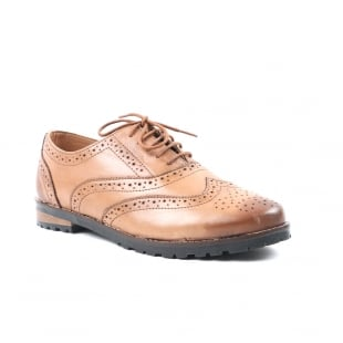 Carlton London Cad Tan Brogue Shoes