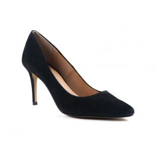 Carlton London Caramel Black Court Shoes