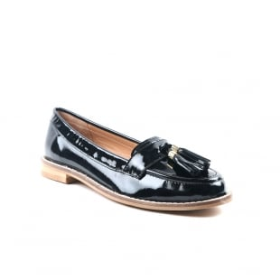 Carlton London Chanel Black Patent Loafers