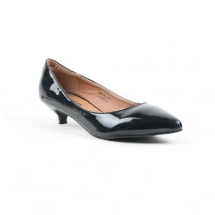 Carlton London Nanda Black Court Shoes
