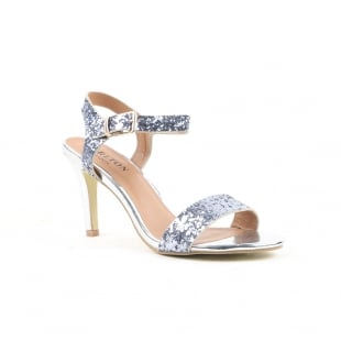 Carlton London Nanma Pewter Sandals