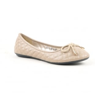 Carlton London Noor Beige Ballerina Shoes