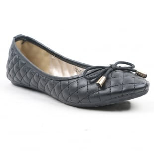 Carlton London Noor Black Ballerina Shoes