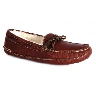 Chatham Crown Red Brown Slippers