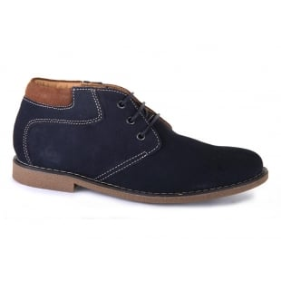 Chatham Tor Navy Suede Boots