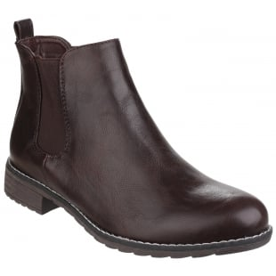 Divaz Kelly Pull On Ankle Boot Brown