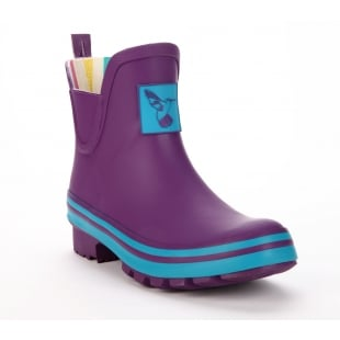 Evercreatures Eggplant Meadow Ankle Wellies - Purple Wellingtons