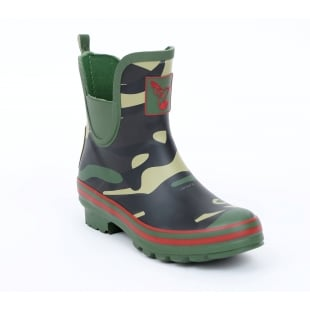 Evercreatures Camo Meadow Ankle Wellies - Camo Wellingtons