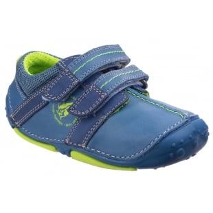 Hush Puppies Eddy Pre-Walkers Shoe-Blue