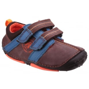 Hush Puppies Eddy Pre-Walkers Shoe-Brown