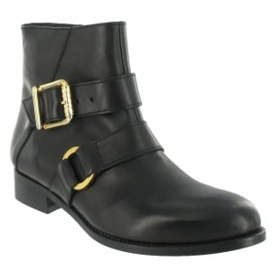 Marta Jonsson Ankle Boot With A Gold Buckle 1450L Black