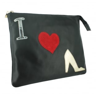 Marta Jonsson Clutch Bag With Pictures 8467L Black