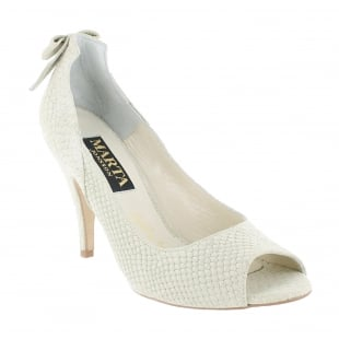 Marta Jonsson Court Shoe With Peep Toe 9007S Beige