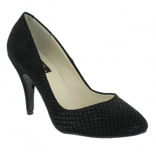 Marta Jonsson High Heeled Court Shoe 8568SN Black