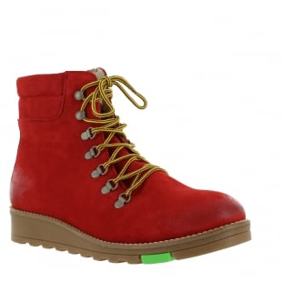 Marta Jonsson Katrin Lace Up Northern Light Red Boots 1381