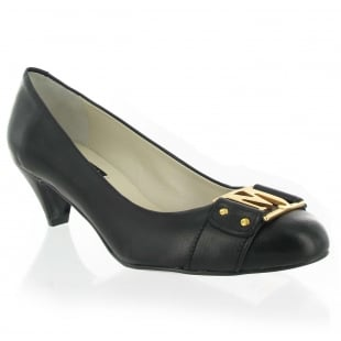Marta Jonsson Leather Court Shoe 6038L Black