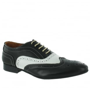 Marta Jonsson Mens Lace Up Classic Brogue J2348L Black/White Shoes