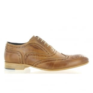 Marta Jonsson Mens Lace Up Classic Brogue J2348L Tan Shoes
