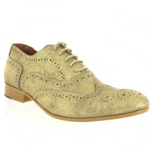 Marta Jonsson Mens Lace Up Classic Brogue J2348S Gold Shoes
