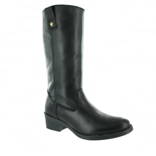 Marta Jonsson Mid Calf Boot With A Block Heel 4785L Black
