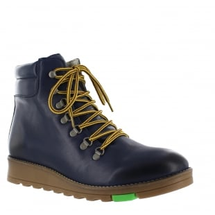 Marta Jonsson Ulli Mens Lace Up Northern Light Navy Boots J1382