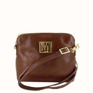 Marta Jonsson Womens Across Body Bag 8524L Tan