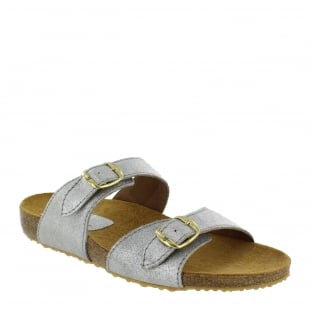 Marta Jonsson Womens Footbed Sandal 1010S Silver
