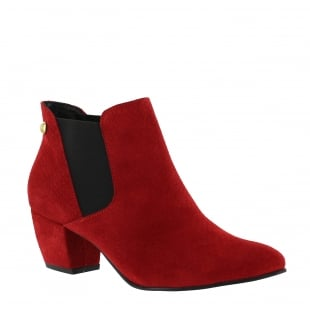 Marta Jonsson Womens Slip On Ankle Boot 2161S Red
