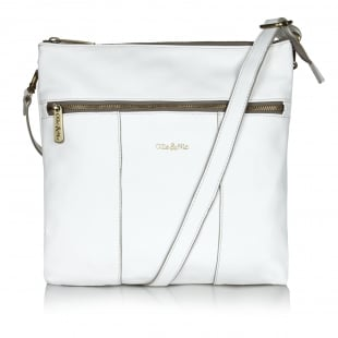 Ollie & Nic Casey Large Across Body Handbag White